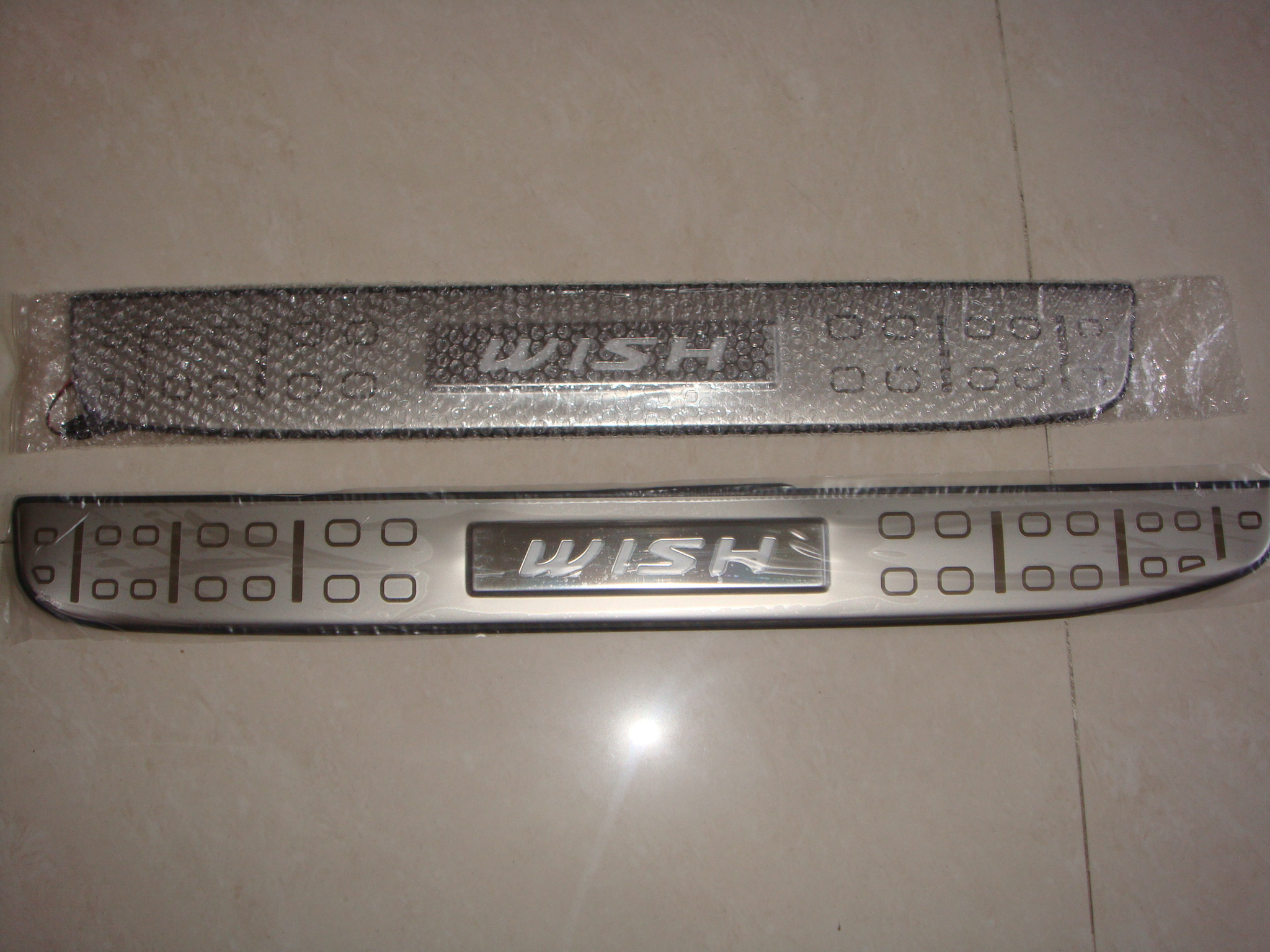 Toyota Wish 2004-2008 Blue LED Door Sill Plates - Click Image to Close