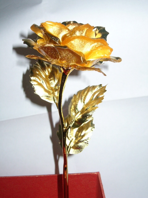 Full Bloom Gold Roses (Made From Gold Foil)