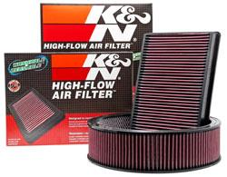 K&N High Flow Drop In Replacement Air Filter