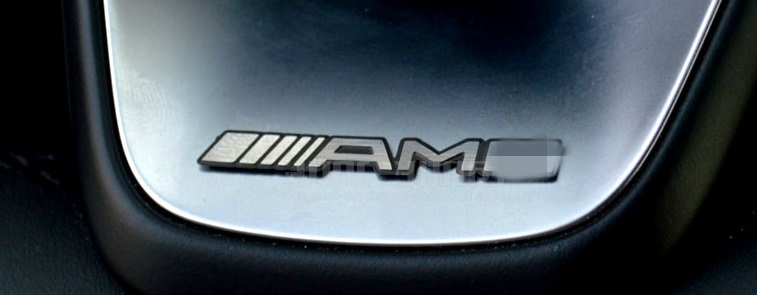 AMG Mini Metal Emblem 35x4mm