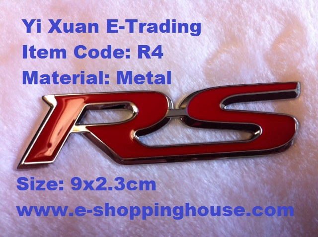 RS Metal Emblem with Red Wording