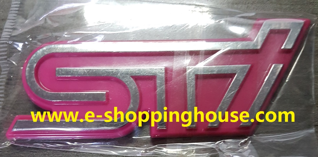 Subaru STi Pink Stick-on Emblem