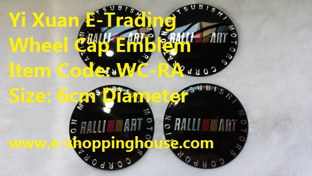 Ralliart Wheel Cap Stick-on Covers