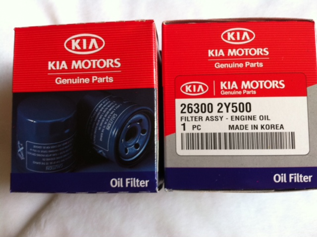 KIA Original Oil Filter 26300 2Y500