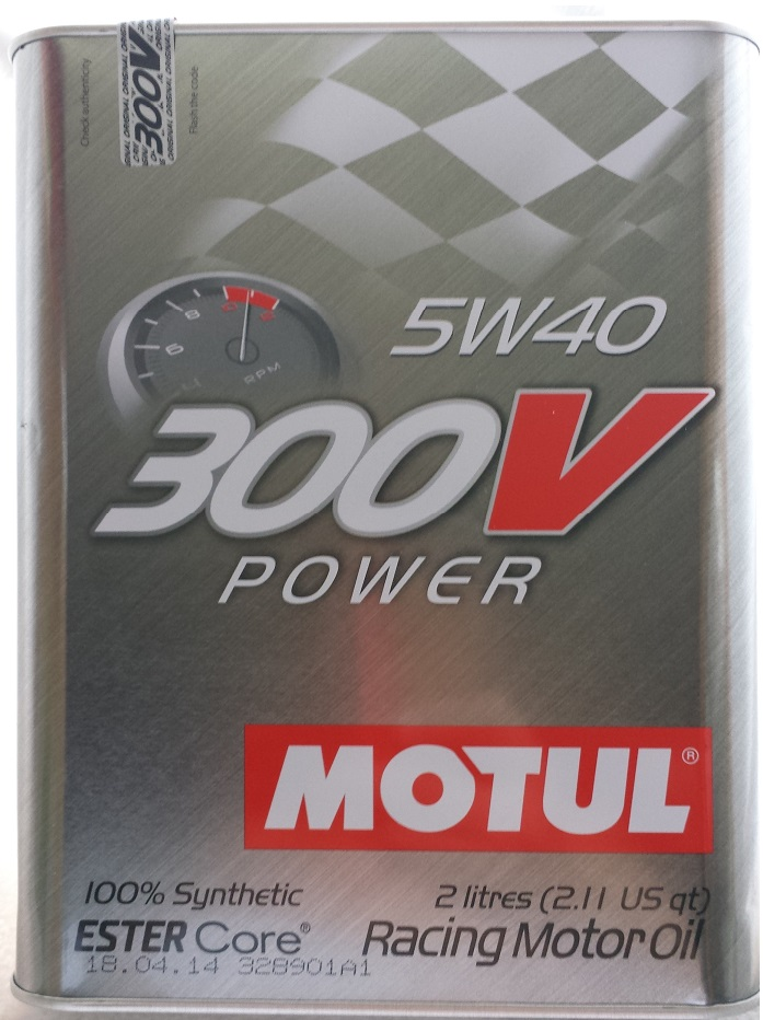 Motul 300v Power 5w-40 Fully Synthetic Engine Oil 2L