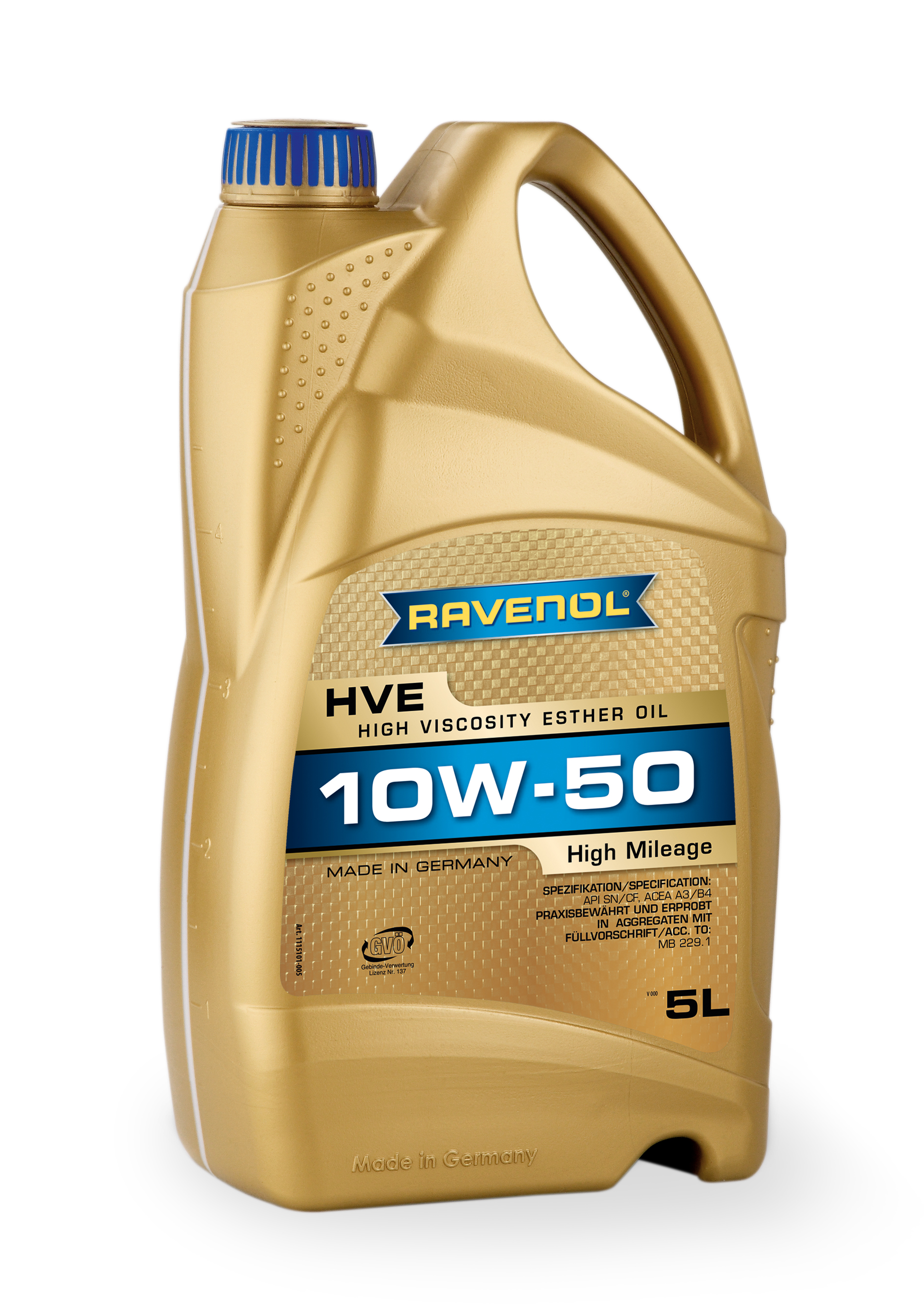 Ravenol HVE 10w-50 Fully Synthetic 5L